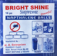 Bright Shine mothballs packaging